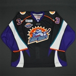 Fowler, Bobby<br>Black Alternate -w/10yr patch- Back -up Only<br>Orlando Solar Bears 2015-16<br>#33