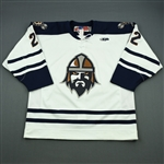 Perkins, Sean<br>White Set 1<br>Greenville Road Warriors 2011-12<br>#22 Size: 54