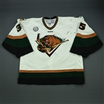 Hunwick, Shawn<br>White Set 1<br>Utah Grizzlies 2012-13<br>#35 Size: 58G