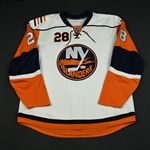 Jackman, Tim<br>White Set 3 (RBK 1.0)<br>New York Islanders 2007-08<br>#28 Size: 58