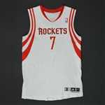 Lowry, Kyle * <br>White Regular Season - Photo-Matched to 16 Games<br>Houston Rockets 2010-11<br>#7 Size: XL+2