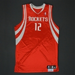 Martin, Kevin * <br>Red Regular Season -Photo-Matched to 2 Games<br>Houston Rockets 2009-10<br>#12 Size: 48 + 2