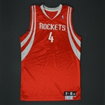 Scola, Luis * <br>Red Regular Season  - Photo-Matched to 2 Games<br>Houston Rockets 2009-10<br>#4 Size: 50