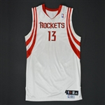 Wafer, Von * <br>White Regular Season/Playoffs - Photo-Matched to 14 Games<br>Houston Rockets 2008-09<br>#13 Size: 48+4