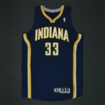 Granger, Danny * <br>Navy Regular Season 3/19/11  - Photo-Matched to 7 Games<br>Indiana Pacers 2010-11<br>#33 Size: XXL
