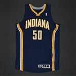 Hansbrough, Tyler * <br>Navy Regular Season - Photo-Matched to 2 Games<br>Indiana Pacers 2010-11<br>#50 Size: XXL