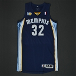 Mayo, O.J. * <br>Navy Regular Season w/10th Anniversary Patch - Photo-matched to 5 games<br>Memphis Grizzlies 2010-11<br>#32 Size: XL+4