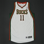 Ellis, Monta * <br>White Regular Season -  Photo-Matched to 3 games<br>Milwaukee Bucks 2011-12<br>#11 Size:XXL