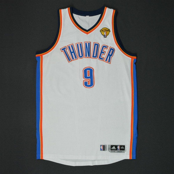 Ibaka, Serge * <br>White Finals Game 1 - Photo-Matched - Also worn in the Playoffs<br>Oklahoma City Thunder 2011-12<br>#9 Size:XXL