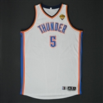 Perkins, Kendrick * <br>White Finals Game 1 - Photo-Matched - Also worn in the Western Conference Finals<br>Oklahoma City Thunder 2011-12<br>#5 Size:4XL+4