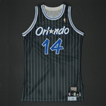Nelson, Jameer * <br>Black Hardwood Classics - 1 of 2 Jerseys - Photo-Matched  to 5 Games<br>Orlando Magic 2009-10<br>#14 Size: 46