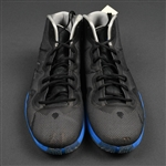 Oladipo, Victor * <br>Nike- Black w/ blue and gray trim - Autographed - Photo-Matched to 2 Games<br>Orlando Magic 2015-16<br>Size: 13.5