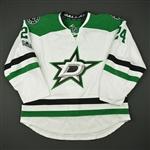 Benn, Jordie<br>White Set 3 w/ NHL Centennial Patch - Game-Issued (GI)<br>Dallas Stars 2016-17<br>#24 Size: 56
