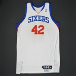 Brand, Elton * <br>White Set 1 - Photo-Matched to 8 Games<br>Philadelphia 76ers 2009-10<br>#42 Size: 50