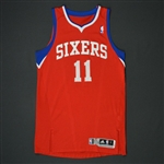 Holiday, Jrue * <br>Red Regular Season - Photo-Matched to 8 Games<br>Philadelphia 76ers 2010-11<br>#11 Size:L+2