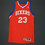 Williams, Louis * <br>Red Regular Season  - Photo-Matched to 11 Games<br>Philadelphia 76ers 2010-11<br>#23 Size: L+2