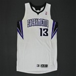 Evans, Tyreke * <br>White Regular Season - Photo-Matched to 9 Games<br>Sacramento Kings 2010-11<br>#13 Size: XL+4