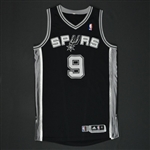 Parker, Tony * <br>Black Regular Season Jersey - Photo-Matched to 8 Games<br>San Antonio Spurs 2013-14<br>#9 Size:XL+2