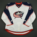 Aulie, Keith<br>White Set 1 - Preseason Only<br>Columbus Blue Jackets 2016-17<br>#36 Size: 58