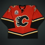 Kobasew, Chuck * <br>Red Set 1 - Stanley Cup Final - Worn in Games 3 and 4<br>Calgary Flames 2003-04<br>#7 Size: 54