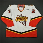 Cavanagh, Chad * <br>White Set 2<br>Johnstown Chiefs 2003-04<br>#12 Size: 56