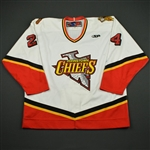 Growden, Dan * <br>White<br>Johnstown Chiefs 2003-04<br>#24 Size: 56
