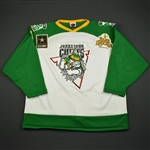 Hedberg, Jon * <br>White - St. Patricks Day<br>Johnstown Chiefs 2005-06<br>#6 Size: XXL