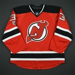 Auvitu, Yohann<br>Red Set 2 w/ NHL Centennial Patch<br>New Jersey Devils 2016-17<br>#33 Size: 56