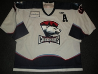 Miles, Jeff<br>White Set 1 w/A<br>Charlotte Checkers 2008-09<br>#19 Size: 56