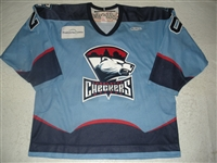 Rutherford, David<br>Blue Set 1<br>Charlotte Checkers 2008-09<br>#20 Size: 54