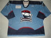 Saunders, Nathan<br>Blue Set 1<br>Charlotte Checkers 2008-09<br>#26 Size: 58