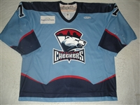 Scuderi, Ken<br>Blue Set 1<br>Charlotte Checkers 2008-09<br>#7 Size: 56