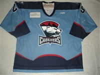 Taylor, Mike<br>Blue Set 1<br>Charlotte Checkers 2008-09<br>#25 Size: 56