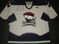 Taylor, Mike<br>White Set 1<br>Charlotte Checkers 2008-09<br>#25 Size: 56