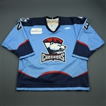 Tsimikalis, Peter<br>Blue Set 1<br>Charlotte Checkers 2008-09<br>#23 Size: 54