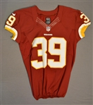 Amerson, David<br>Burgundy Regular Season<br>Washington Redskins 2014<br>#39 Size: 42 SKILL
