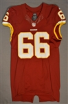 Chester, Chris<br>Burgundy Regular Season<br>Washington Redskins 2014<br>#66 Size: 46 LINE