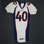 Carter, Dale * <br>White- Authentic  Pro-Cut - CLEARANCE<br>Denver Broncos 1999<br>#40 Size:42