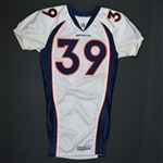 Crockett, Ray * <br>White- Authentic  Pro-Cut - CLEARANCE<br>Denver Broncos 1998<br>#39 Size:46