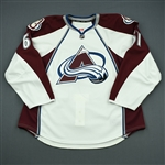 Beaupre, Gabriel<br>White Set 1 - Game-Issued (GI)<br>Colorado Avalanche 2011-12<br>#61 Size: 58