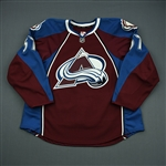 Brennan, Mike<br>Burgundy Set 1 - Game-Issued (GI)<br>Colorado Avalanche 2011-12<br>#57 Size: 56