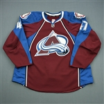 Brophey, Evan<br>Burgundy Set 1<br>Colorado Avalanche 2011-12<br>#47 Size: 58