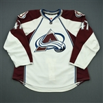 Brophey, Evan<br>White Set 1<br>Colorado Avalanche 2011-12<br>#47 Size: 58