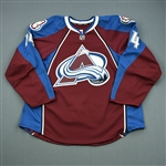 Carman, Mike<br>Burgundy Set 1 - Game-Issued (GI)<br>Colorado Avalanche 2011-12<br>#14 Size: 56