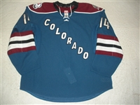 Carman, Mike<br>Third Set 1 - Game-Issued (GI)<br>Colorado Avalanche 2011-12<br>#14 Size: 56