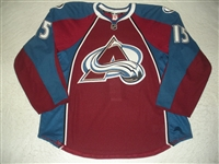 Cohen, Zach<br>Burgundy Set 1 - Game-Issued (GI)<br>Colorado Avalanche 2011-12<br>#15 Size: 58