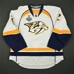 Bitetto, Anthony<br>White Stanley Cup Final Set 1 w/ NHL Centennial Patch - Warm-Up Only<br>Nashville Predators 2016-17<br>#2 Size: 56