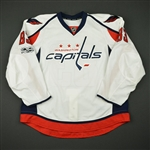Beagle, Jay<br>White Set 4 / Playoffs w/ NHL Centennial Patch - Game-Issued (GI)<br>Washington Capitals 2016-17<br>#83 Size: 58