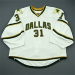 Bachman, Richard<br>White Set 1<br>Dallas Stars 2011-12<br>#31 Size: 58G