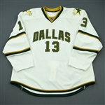 Barch, Krystofer<br>White Playoffs - Game-Issued (GI)<br>Dallas Stars 2011-12<br>#13 Size: 58+
